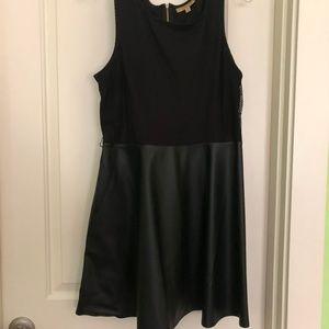 Black Leather Skirt Dress
